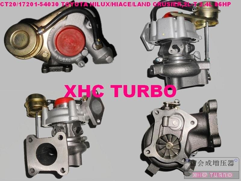 Nouveau turbo turbocompresseur CT20 17201 54030 pour TOYOTA Hiace Hilux Landcruiser, 2L-T 2.4L 86HP