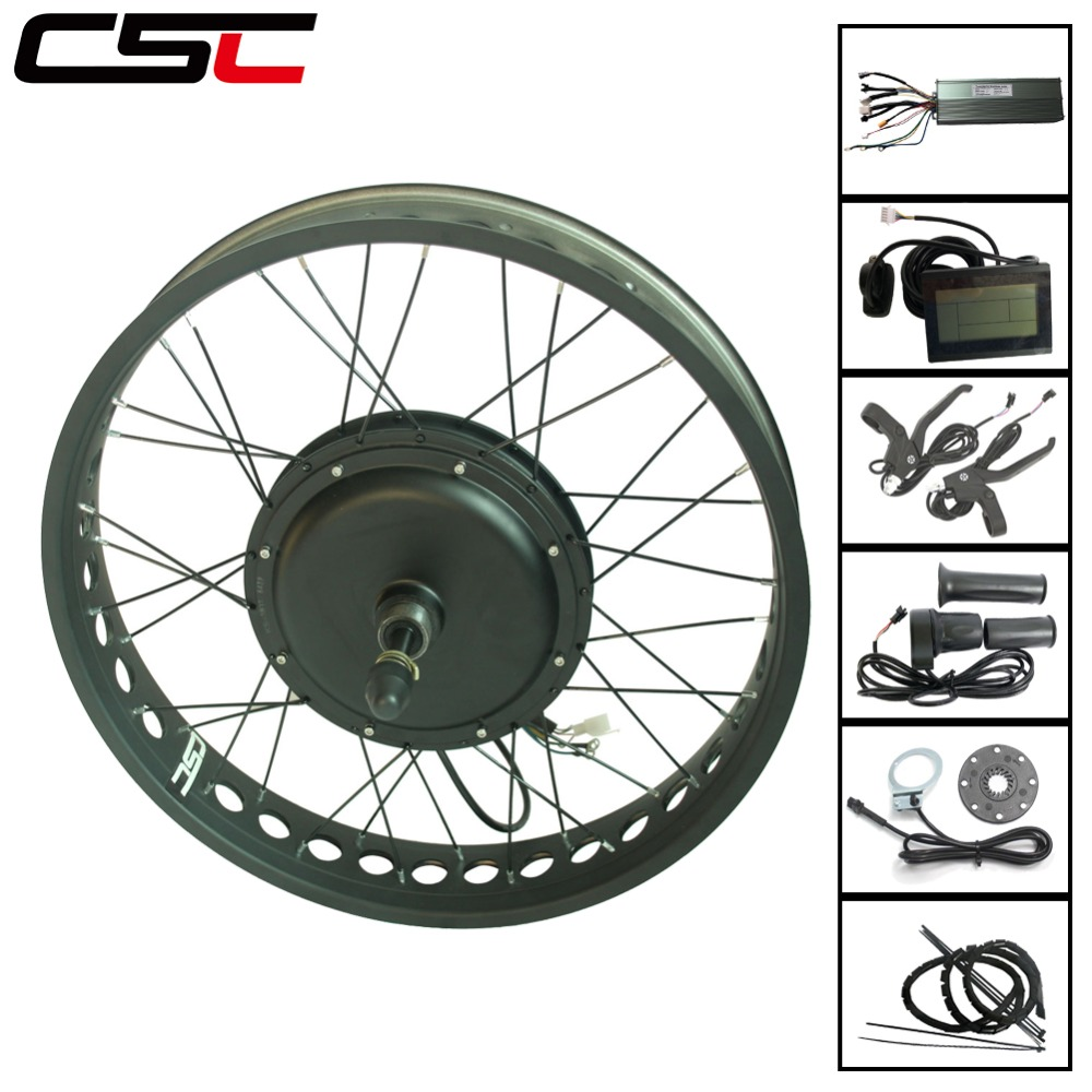 Snow Electric Bicycle front rear motor wheel 4 color 20 24 26 inch 4 0 Tyre