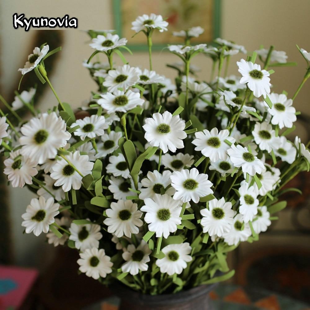 Aliexpress Buy Kyunovia Wholesale 6 Branch 9 Heads Pe Daisy