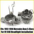 2 шт. H1 Ксеноновые Лампы Адаптеры Держатели Для 1992-1998 Mercedes Benz-S-Class Aftermarket H1 Ксеноновые Лампы