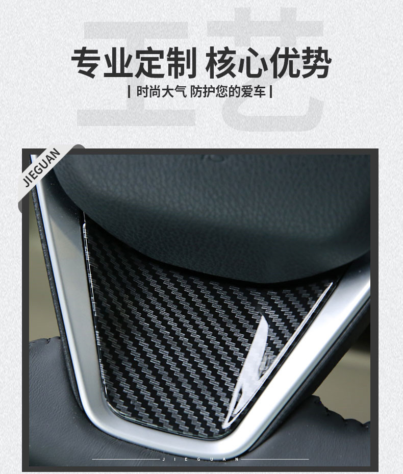 Car Styling Steering Wheel Decoration For Toyota Camry 2017 2018 Interior Accessories