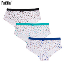FUNCILAC Underwear Women Seamless Sexy Cotton Boxer Cute Rabbit Printing Boyshorts Low Waist Bow Female Lingerie 3Pcs/Lot