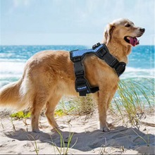 Reflective pet dog chest strap X2 medium large explosion-proof rushing traction mesh breathable