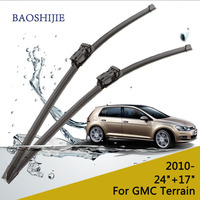 Wiper Blade For GMC Terrain 2010 24 17 Fit Push Button Type Wiper Arms