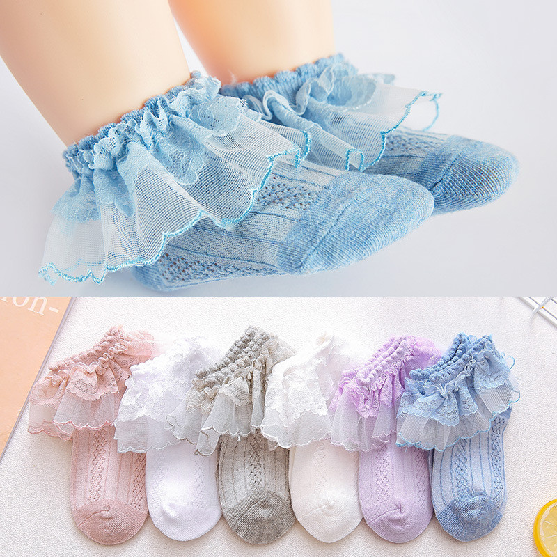 New Summer Retro Lace Kids Girls Socks Ruffle Frilly Socks Girls Princess Mesh Solid Cotton Short Sock White School Dance SocksNew Summer Retro Lace Kids Girls Socks Ruffle Frilly Socks Girls Princess Mesh Solid Cotton Short Sock White School Dance Socks