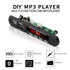 Image 5 - Kebidu לא Bluetooth MP3 WMA WAV מפענח לוח MP3 נגן רכב אודיו USB TF רדיו FM מודול 5V 12V עם שלט רחוק לרכב