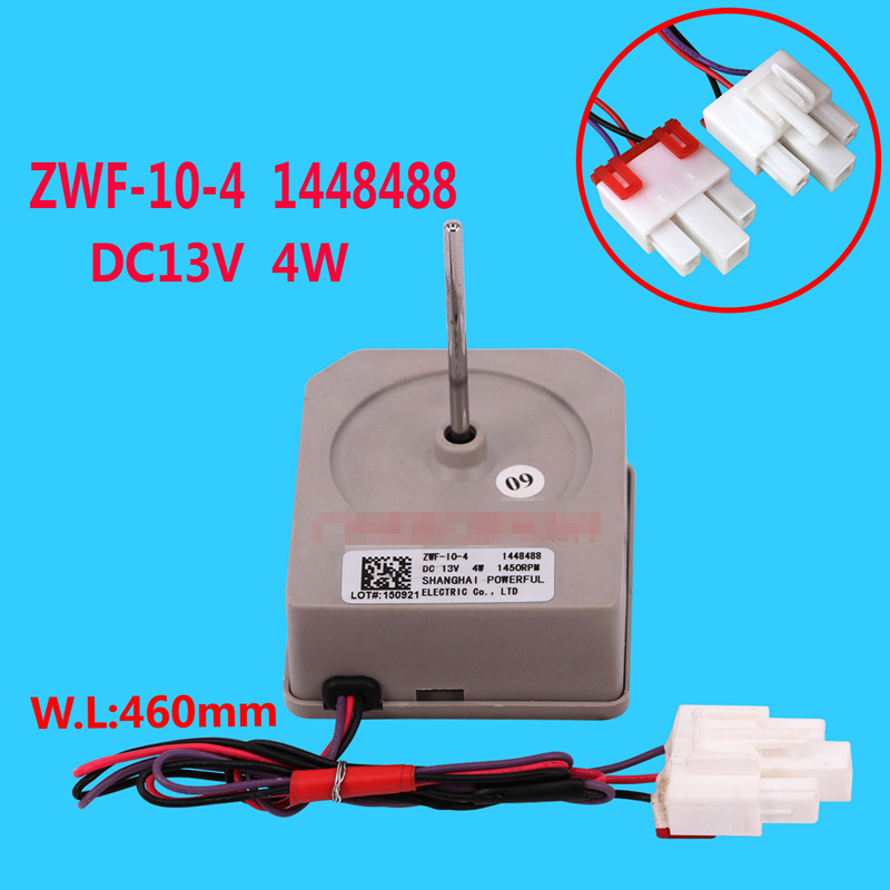 цены 1pcs For Hisense refrigerator fan motor ZWF-10-4 1448488 DC13V refrigerator parts