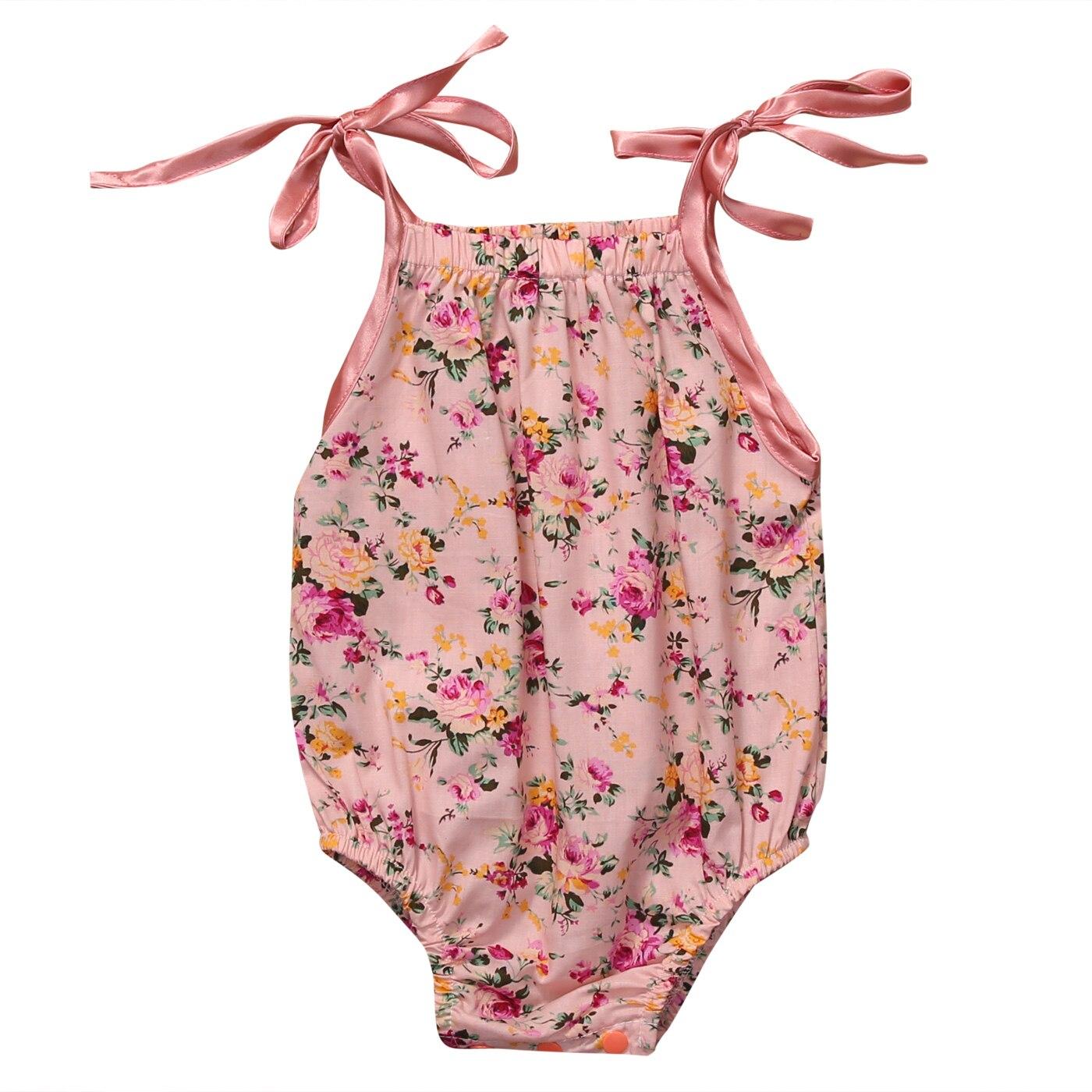 Baby Grils Beautiful Floral Lace Romper Cotton Halter Jumpsuit Clothes Outfit Sunsuit