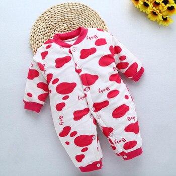 d009bf32d42d Mameluco de Bebé Ropa de invierno para niños y niñas mono recién nacido  cuello redondo 3-6 meses