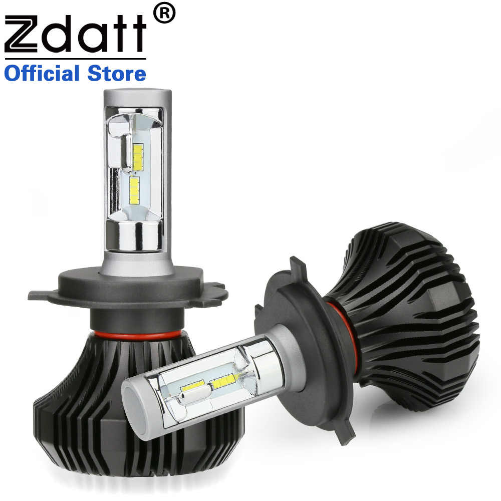 Zdatt 2Pcs Auto Headlights Bulbs Led Bulb H1 H7 H8 H11 H9 80W 8000LM Car Led Auto Light 12V Automobiles