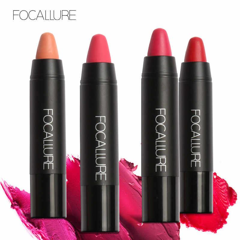 FOCALLURE Matte Lipstick 19 Colors Waterproof Long-lasting Easy to Wear Maquiagem Profesional Lipstick Nude Lips Makeup