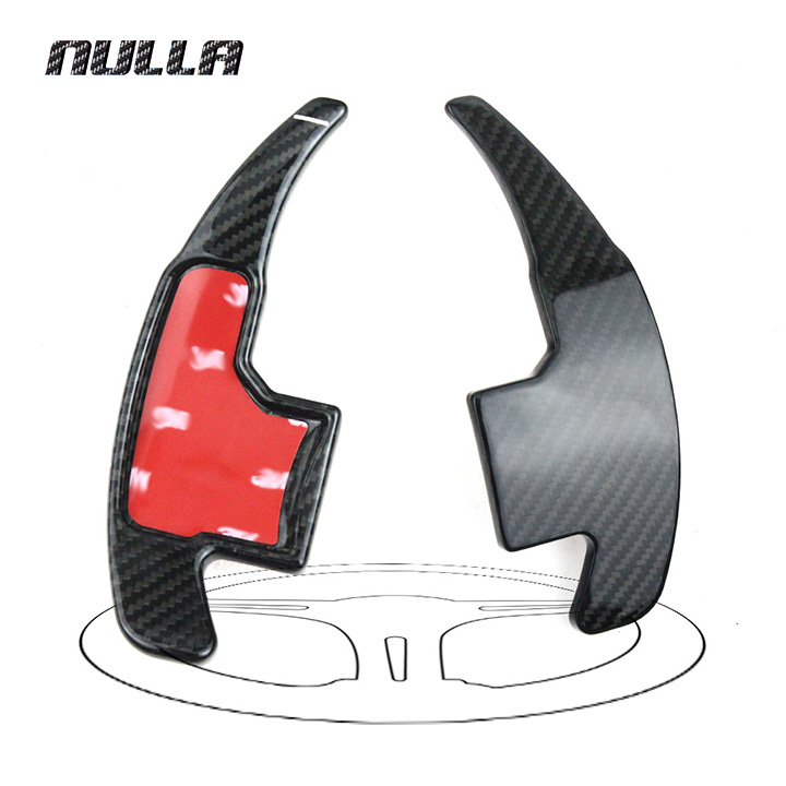 NULLA Carbon Fiber Car Styling Sticker Accessories For Ford Mustang 2015 2016 2017 Steering Wheel Gear Shift Paddle Shifter free shipping car styling sew on genuine leather car steering wheel cover car accessories for 2015 2016 new ford mustang
