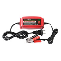 US Plug 12V 5A Lead Acid Battery Charger Multiple Protective Systems Auto Supplies 4 Stage Switching Mode LED Indicator Light
