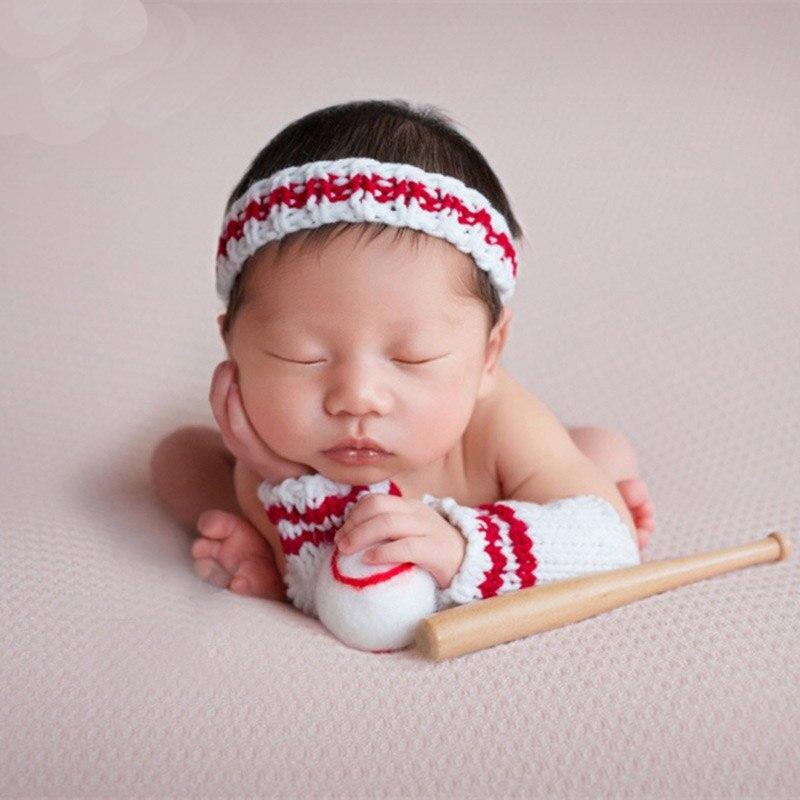 Little Baby Girl Boy Picture Photo Shoot Crochet Baseball ...