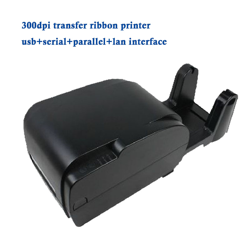 Thermal transfer barcode printer GP-9035T with paper holder print adhesive sticker jewellery label PET hang tag Ethernet port