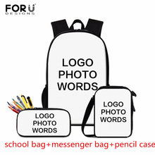 FORUDESIGNS Custom School Bags for Children,Customized Schoolbag Teenager Boys Girls,Kids Bag