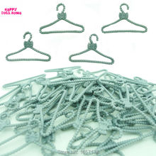 20 PCS Lot Silver Gray Hangers Accessories Clothes For Barbie Doll Dress Outfit Skirt Shoes Pretend