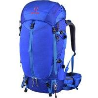 Сильный кислорода боль 65 + 10L рюкзак Открытый легкие дышащие PES подвеска Альпинизм дважды плечо спортивная сумка & дождевик