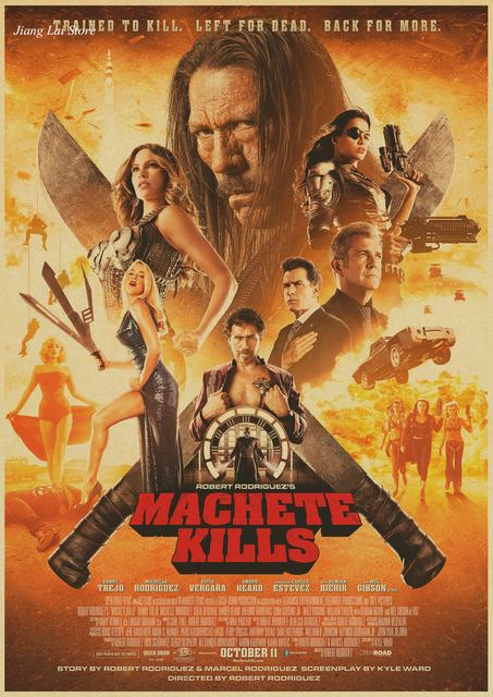 Machete Kills Movie Film Poster Retro Papel Kraft Vintage Imprimir