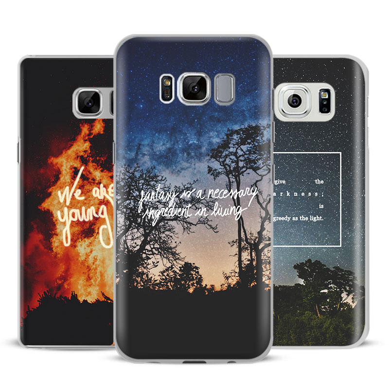 Nature song lyrics music quotes Phone Case Cover For Samsung Galaxy S5 S6 S7 Edge S8 S9  ...