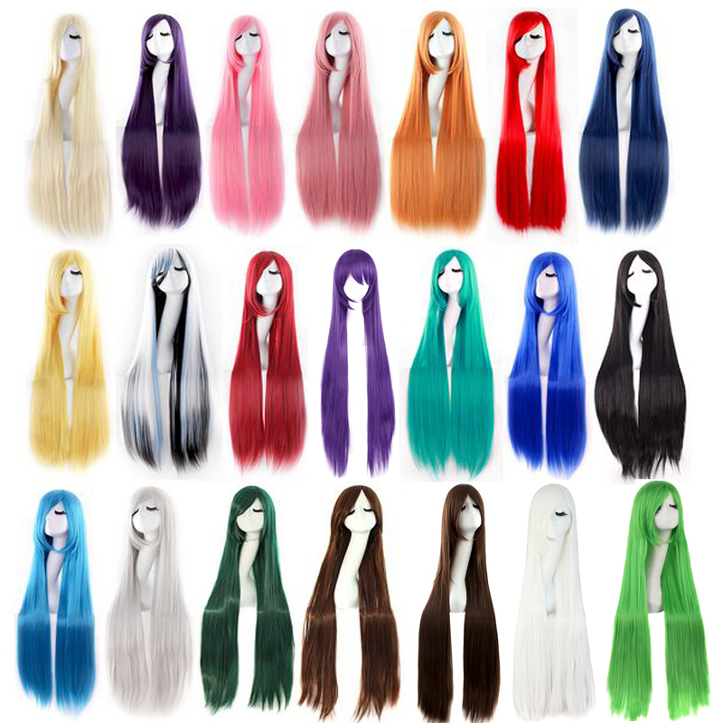 Synthetic Wigs Hair Extensions & Wigs Honest Hairjoy Cosplay Party Wig Women Side Bangs 100cm Long Straight Synthetic Hair 22 Colors Available Online Discount