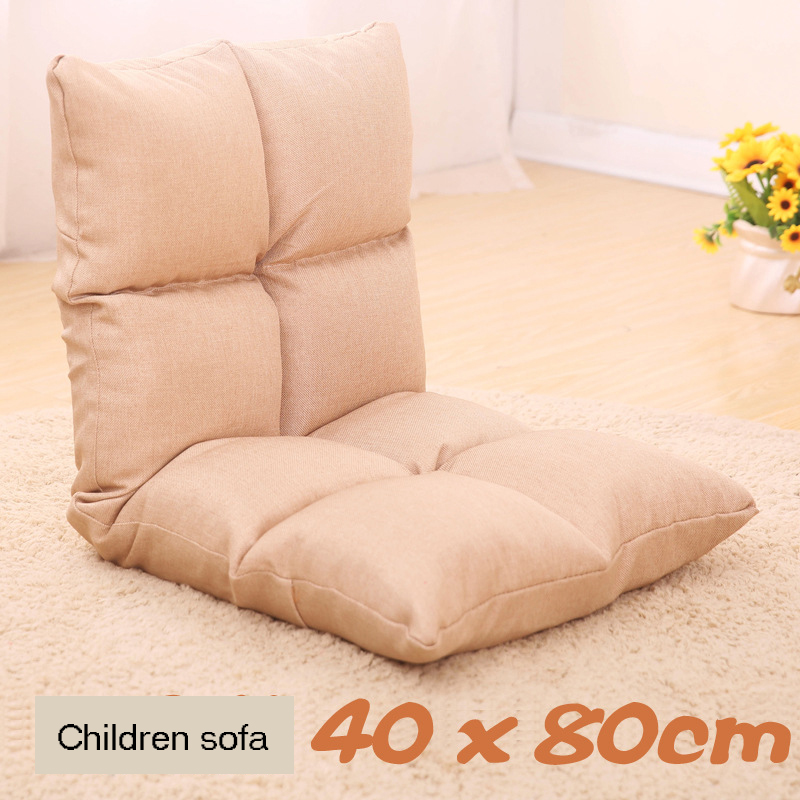 Fabric Children's Small Sofa Living Room Chaise Lounge Folding Sofa Balcony Rocking Chair Recliner Kids Folding Bed
