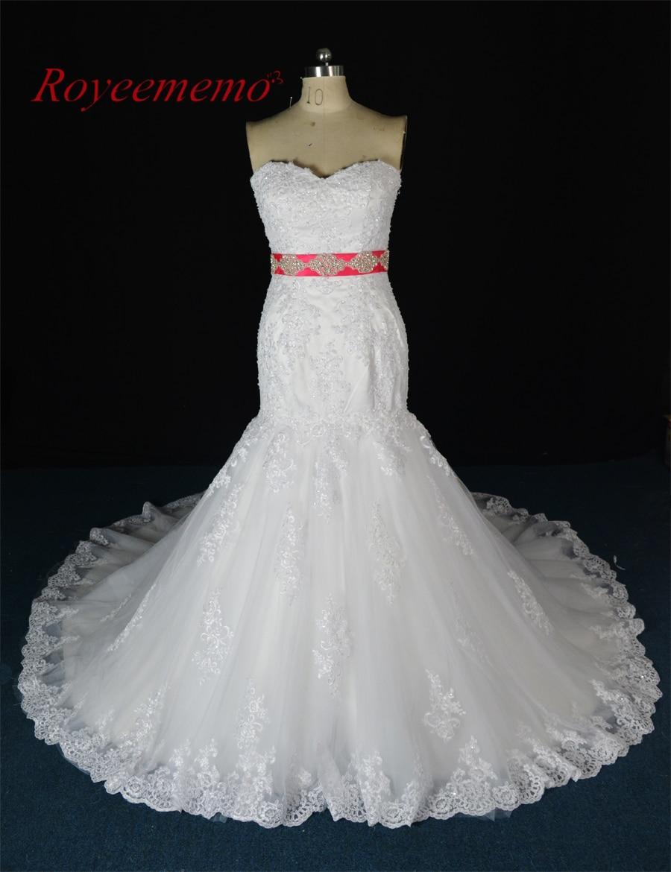 2017 real photo new lace mermaid wedding dress vestido de for True mermaid wedding dresses