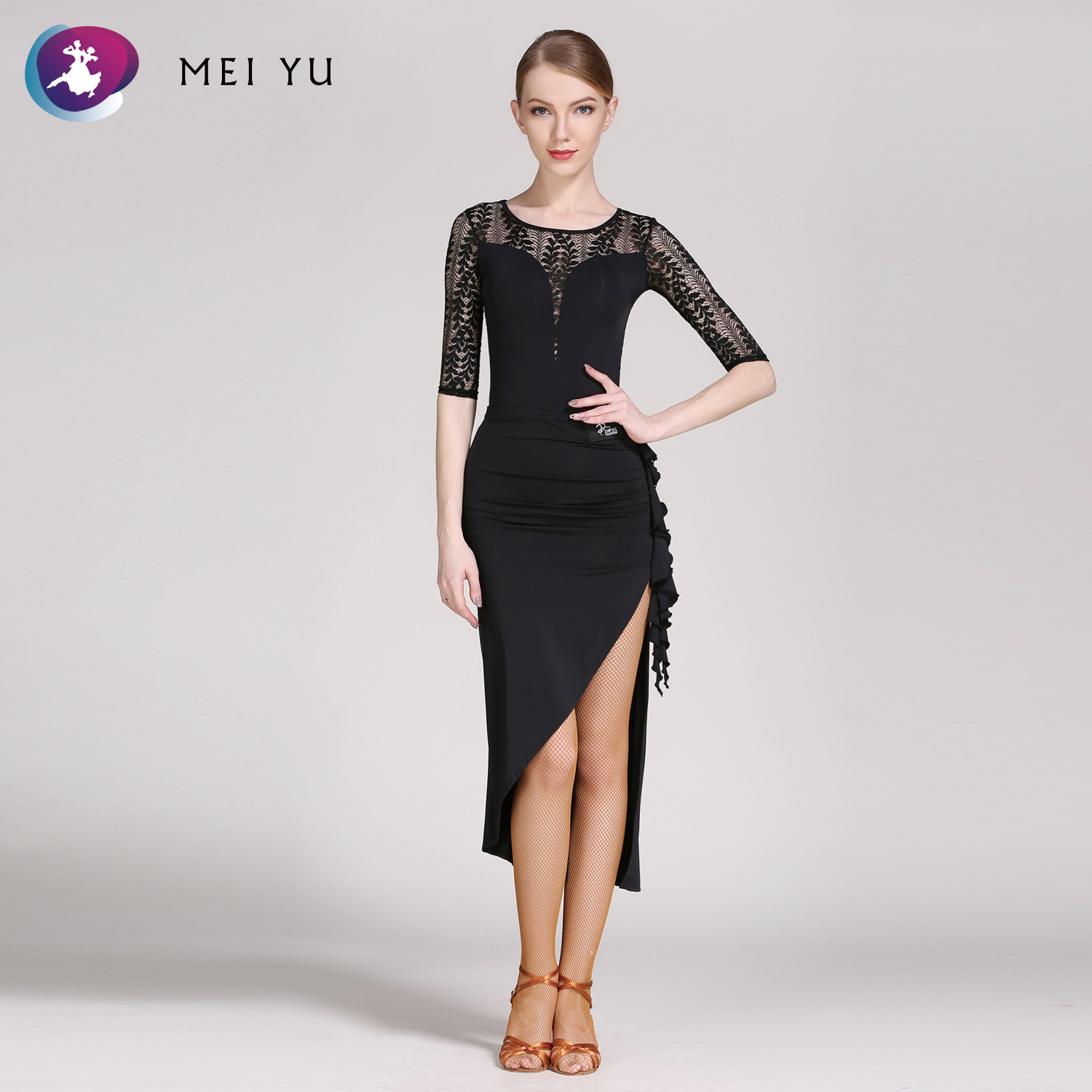 MEI YU GB059 and GB060 Latin Dance Top and Skirt Suits Ballroom Costume Leotard Women Lady Adult Dancewear Evening Party Dress