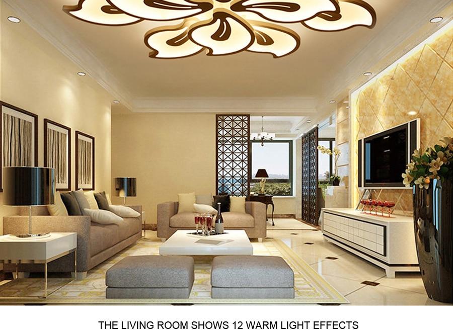 Licht & Beleuchtung Led Wohnzimmer Decken Lampe Mit Fernbedienung Indoor Hause Führte Licht Decke Plafondlamp 90 V-260 V Für 15-25square Meter