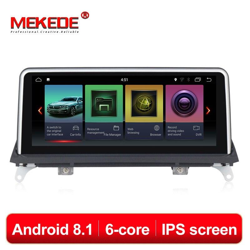 Reprodutor multimídia Carro MEKEDE 6 Núcleo android 8.1 Do GPS Do Carro jogador de navegação para BMW X5 E70/X6 E71 (2007-2013) 10.25 ''IPS tela