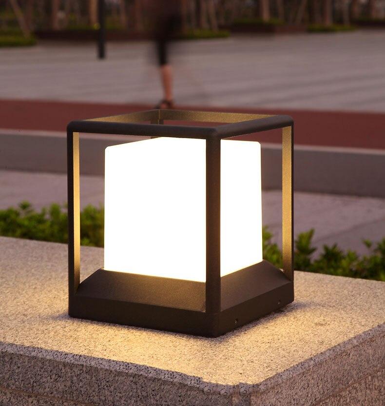 do jardim moderno alumínio pilar luz pátio
