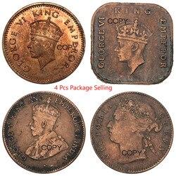 Straits Settlements George 1883 1/4 Cent 1940 1/2 Cent 1938 1/2 Stück 1899 Vitoria 1/4 Cent Paket Verkauf Kupfer Kopie münzen