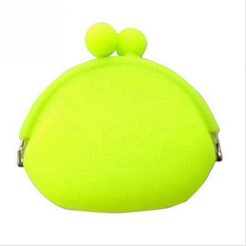 2016 Fashion Lovely Design Wallets Women Silicone Round Coin Purse Wallet Portable Lady Card Key Phone Bag Case
