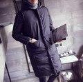 Algodón Grueso Invierno Nieve Campera de Abrigo Con Capucha de alta calidad de estilo Occidental grandes yardas de largo de algodón chaqueta de la capa parka hombres