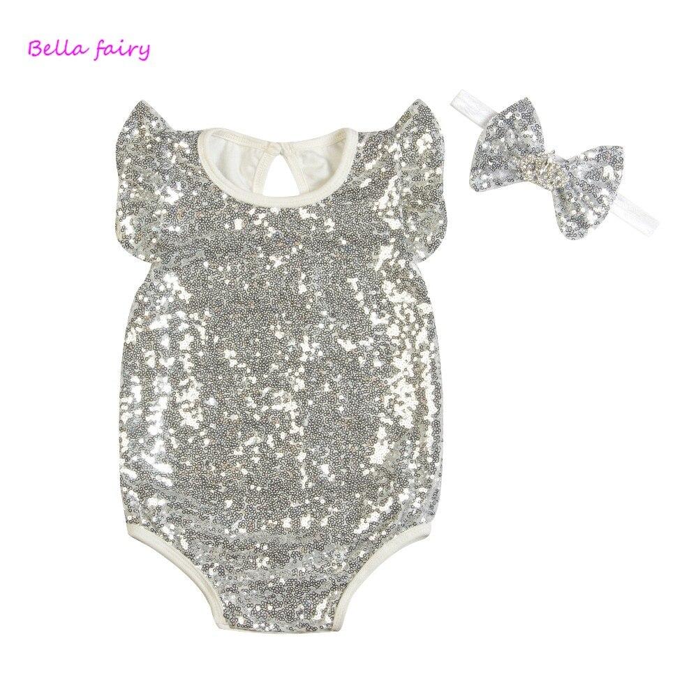 2018 Baby Girl Sequined Romper Newborn Infant New Year New Fashion - Հագուստ նորածինների համար - Լուսանկար 3