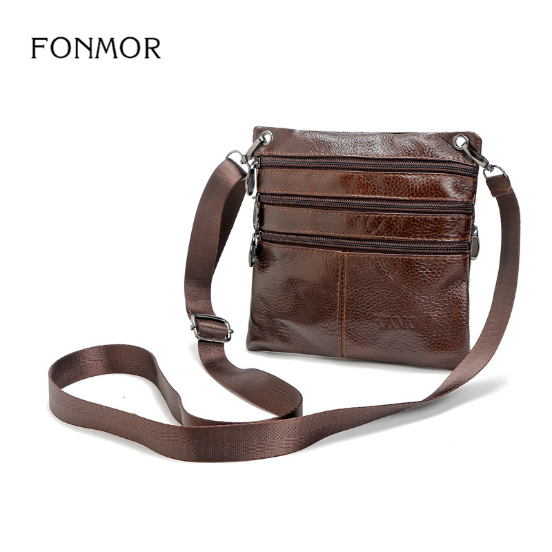 Fonmor 2017 New Cow Genuine Leather Messenger Bags Men Casual Travel Business Shoulder Bag for Man Sacoche Homme Bolsa Masculina cow genuine leather messenger hand bags men casual travel business crossbody shoulder bag for man sacoche homme bolsa masculina