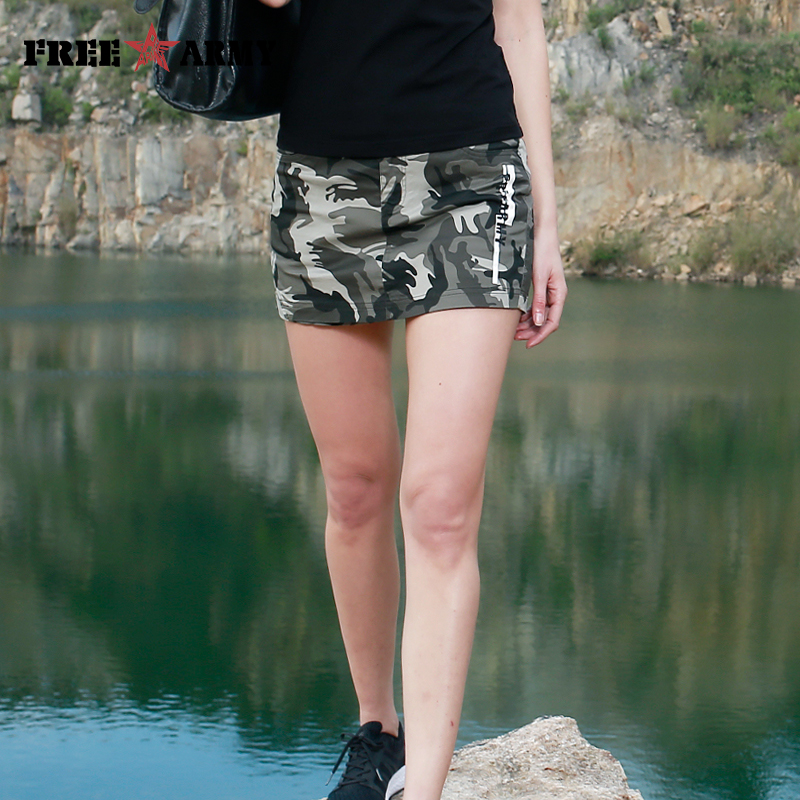 FREEARMY Casual Women's Shorts Skirts Cotton Skinny Korean Style Denim Jeans Skirt Shorts Female Summer Capri Shorts Camo Lady