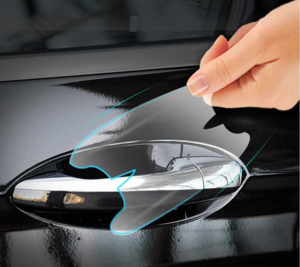 High Quality <font><b>Car</b></font> TPU Door Handle Cover Film Sticker Protective For <font><b>Audi</b></font> <font><b>A3</b></font> A4 A6 A8 Q3 Q5 Q7 Accessories image