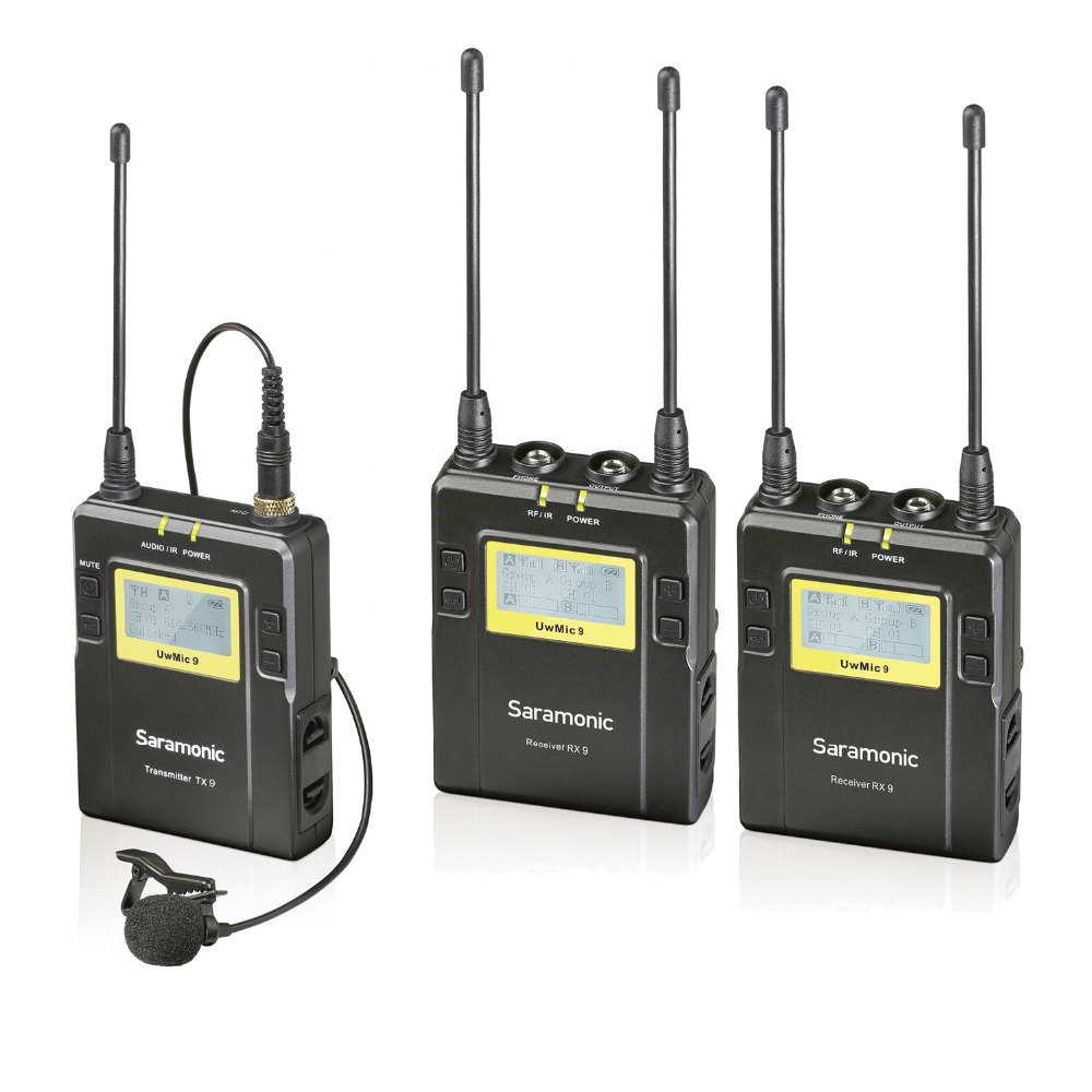 Saramonic Uwmic9 UHF Wireless  Monitor System use for recording studio/on-stage Monitoring Meeting 1 Transmitter +2 Receivers niorfnio portable 0 6w fm transmitter mp3 broadcast radio transmitter for car meeting tour guide y4409b
