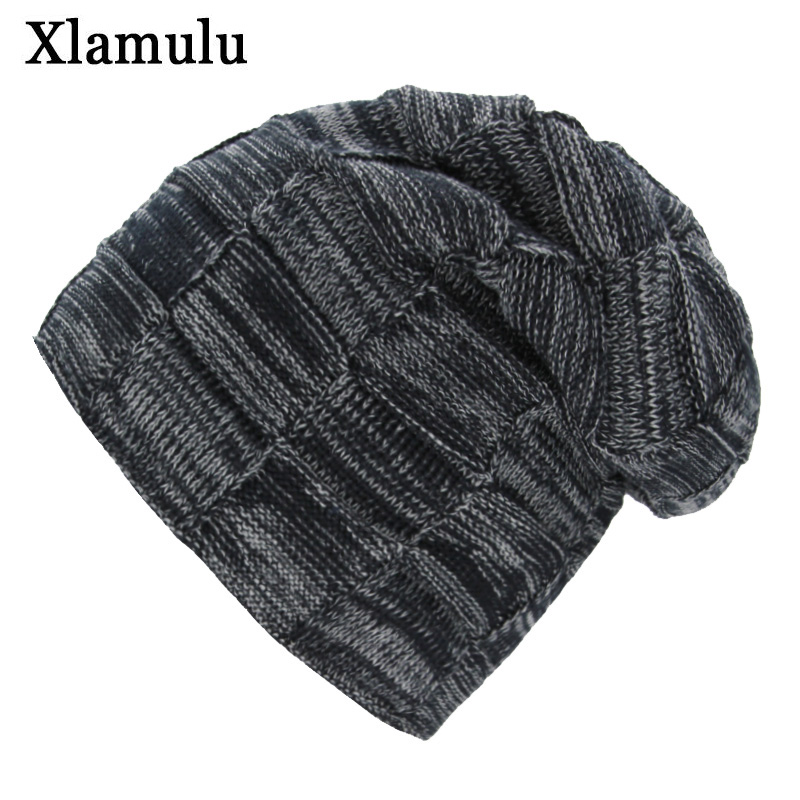 Xlamulu   Skullies     Beanies   Knitted Hat Winter Hats For Women Men   Beanie   Baggy Male Gorros Bonnet Warm Caps Fashion Thick   Skullies