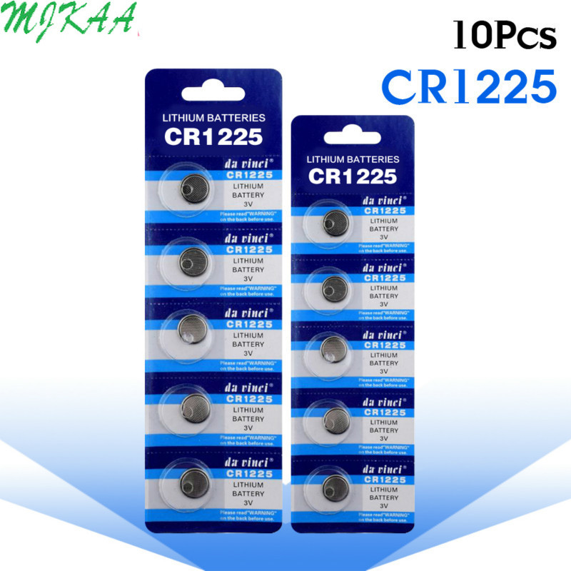 5pcs//pack CR1225 Button Batteries LM1225 BR1225 KCR1225 Cell Coin Lithium...