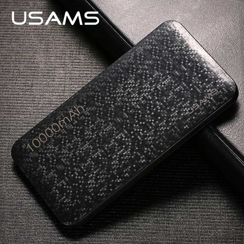 imágenes para Banco de la energía para el xiaomi Millas, USAMS Mosaico de Ultra Delgado 10000 mAh Powerbank para el iphone 4 5 6 7 SÍ Teléfono Móvil de Samsung