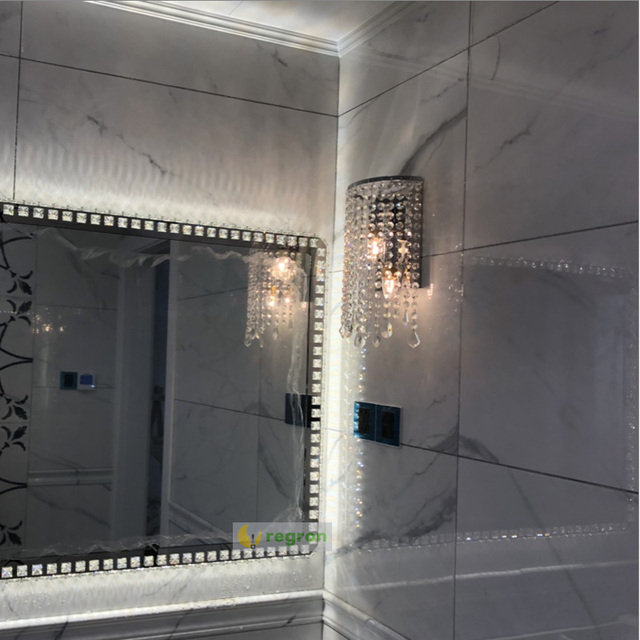 modern bedside wall lamp crystal light home creative  Dressing room Mirror Light Lighting wrought iron Sconce Wall Lights