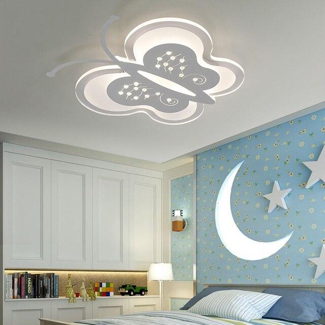 Moderne Simple lit enfant room acrylique led plafonnier papillon ...
