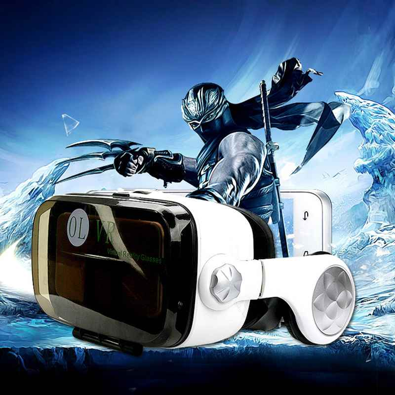 Virtual Reality Glasses VR Box Talking Glasses Headset with Headphone for Smart Phones with 5.5-6.2 inche Android iOS Windows