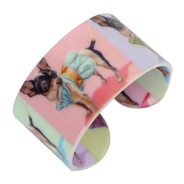 Women's Bright Dog Patterned Bracelet
