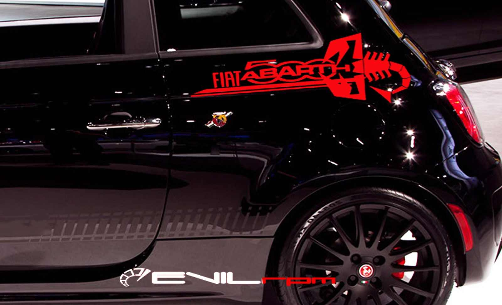 Detail feedback questions about for 2pcs pair side back tail decal sticker kit for fiat 500 abarth custom made scorpion on aliexpress com alibaba group