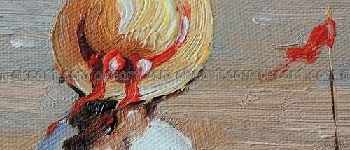 Ручная роспись играющие Дети пляж песок океан Маяк Лопата Pail картина маслом Высокое качество