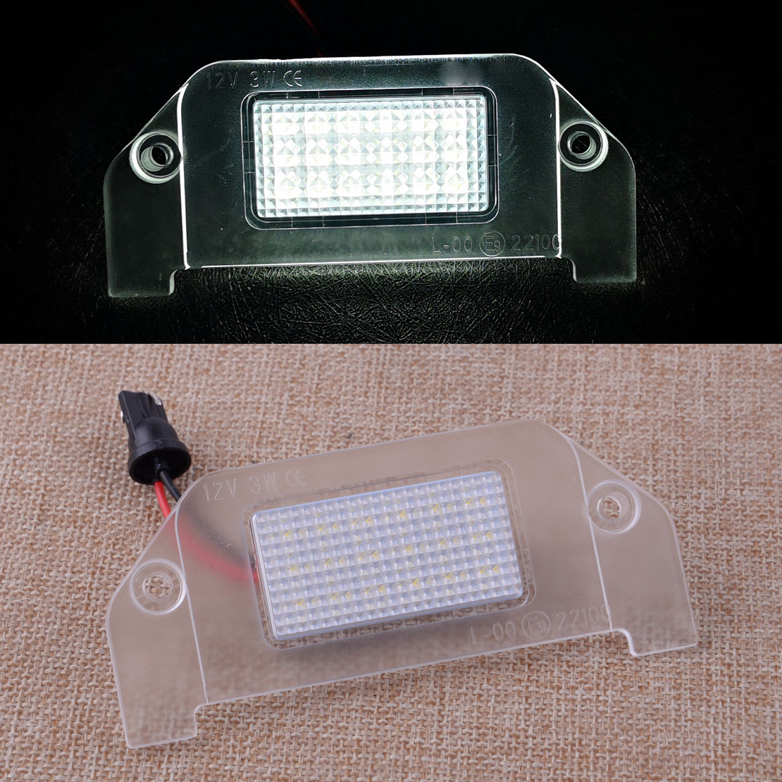 18 LED White Rear Number License Plate Light Lamp Fit for <font><b>Dodge</b></font> <font><b>Charger</b></font> Challenger Dart Avenger Magnum 12V 3W image