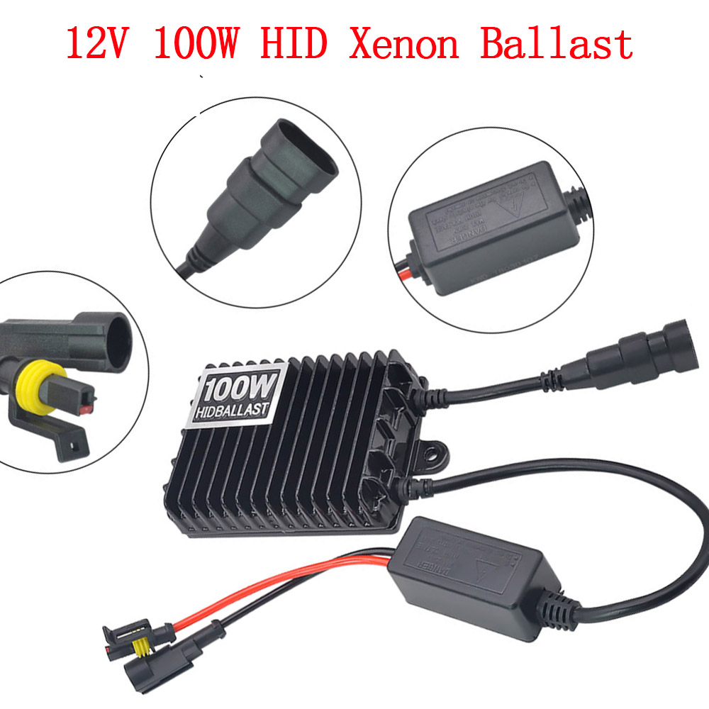 Car Headlight 100W HID Xenon Kit H7 H11 H1 H3 HB3 HB4 D2H Xenon Bulb High Power AC 12V 100W HID Ballast Kit 4300K 6000K 8000K (3)